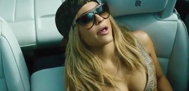 Kylie Jenner sat in car