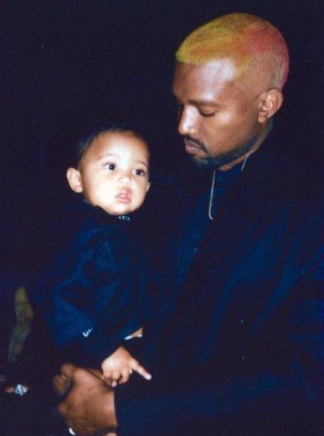 Kanye West and Saint West