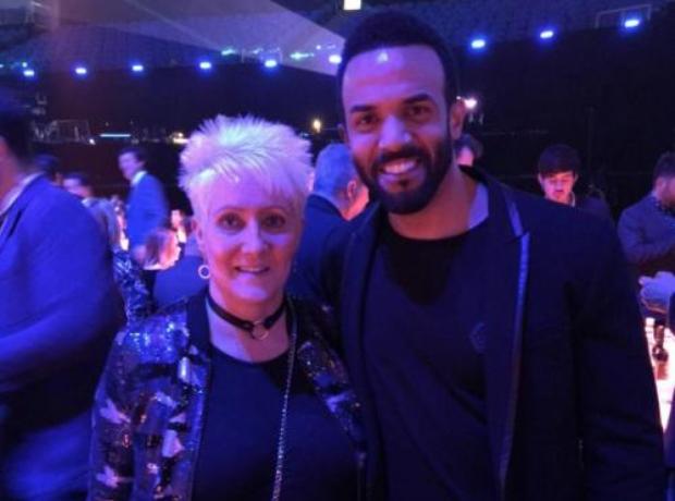 Craig David and his mum at the BRITs