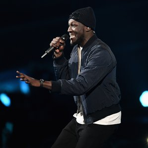 Stormzy performing with Ed Sheeran at the BRITs 20