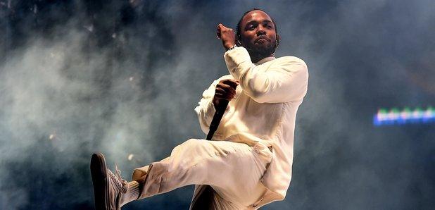 Kendrick Lamar performing at Coachella 2017